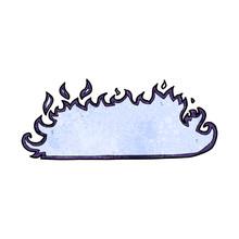 Cartoon Spooky Fire Border