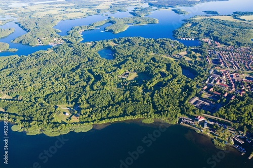 Poster Olive Aerial view of Mazury
