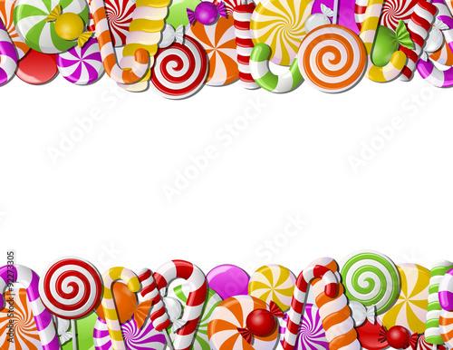 fototapeta na ścianę Frame made of colorful candies