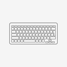 Computer Keyboard Monochrome Icon