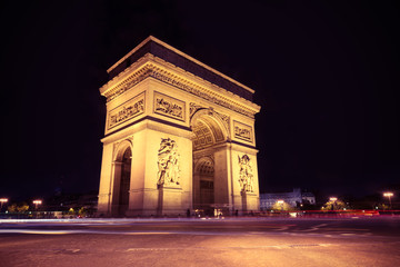 Fototapeta na wymiar Arc de Triomphe Paris city - Arch of Triumph