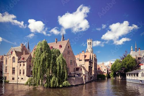 Wall Murals Bridges medieval houses, Rozenhoedkaai in Brugge