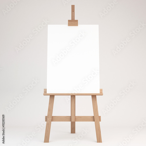 3d rendering of a wooden easel Wallpaper Mural