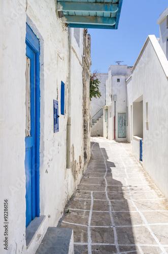 Street in Kimolos island, Cyclades, Greece