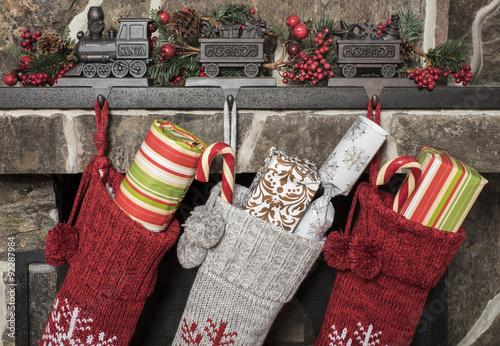 Fototapeta Christmas stockings