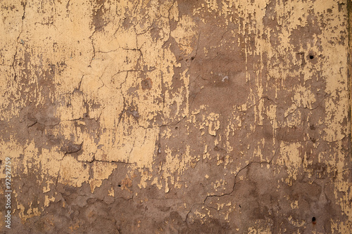 Canvas Prints Old dirty textured wall Texture of old wall covered with yellow stucco