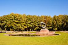Frederic Chopin Monument In Lazienki Park, Warsaw.