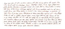 Handwritten Letter - Latin Tex...