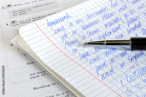 Homework English - Buy this stock photo and explore similar
