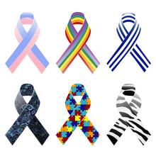 Awareness Ribbons Pattern