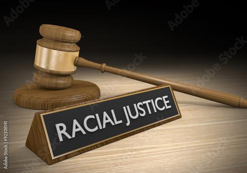 Fényképezés  Racial justice legal concept for protection of civil rights