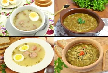 Fototapetazestaw różnych zup