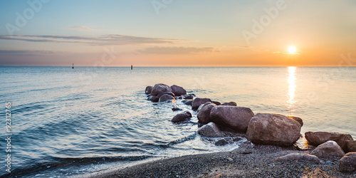 Foto auf AluDibond Nordsee Sonnenaufgang Timmendorfer Strand, Ostsee