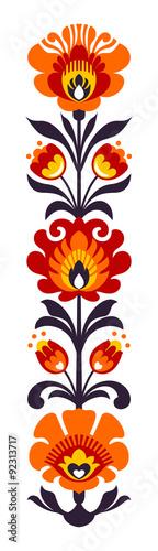 Fotografija  Polish folk flowers papercut