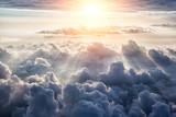 Piękne tło błękitnego nieba - 92314330
