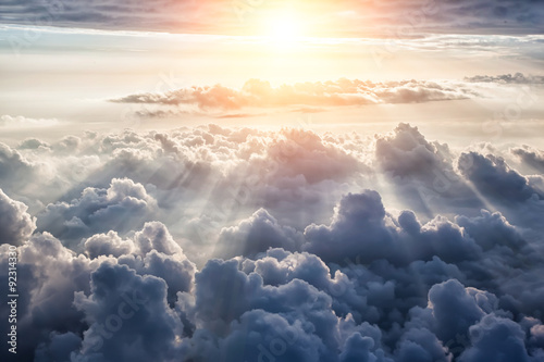 La pose en embrasure Ciel Beautiful blue sky background