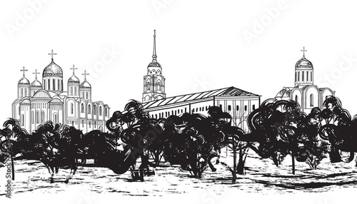 Fototapety, obrazy: ancient russian city Vladimir