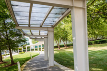 Covered Walkway In Park