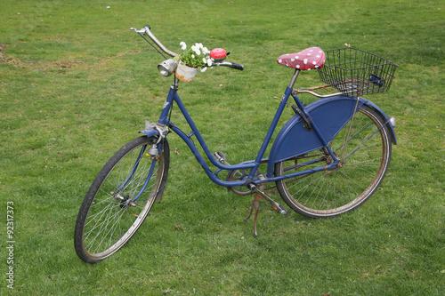 Türaufkleber Fahrrad Blumenfahrrad