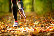 Woman Exercise, Shoes Closeup
