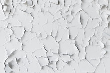 Cracked Flaking White Paint, Background Texture