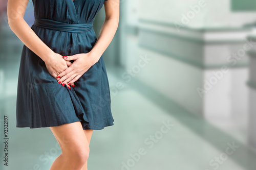 Woman With a Bladder Infection Canvas Print