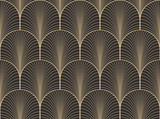 Vintage antique palette seamless art deco wallpaper pattern vector - 92325545