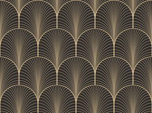 Vintage Antique Palette Seamless Art Deco Wallpaper Pattern Vector