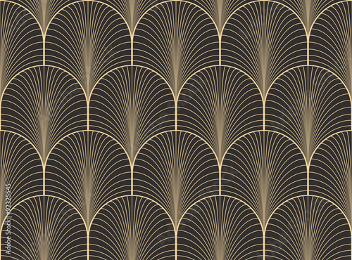 Photo  Vintage antique palette seamless art deco wallpaper pattern vector