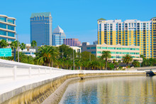 Tampa Skyline Viewed From Bays...