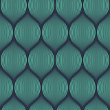 Seamless neon blue optical illusion woven pattern vector - 92327116