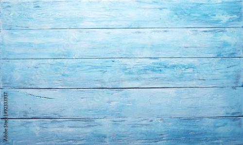 Poster Bois Blue wooden background.