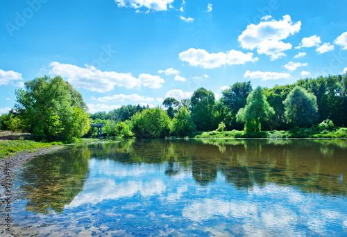 Poster Zeilen River