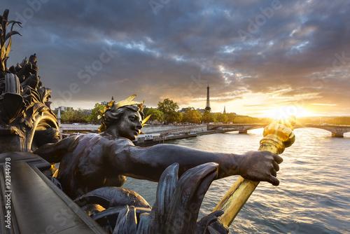 Poster Paris Statue de Pont Alexandre III Paris