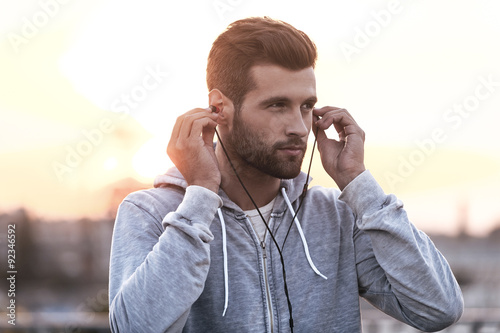 Music is always with me. Fototapet