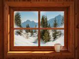 Winter landscape - 92347757