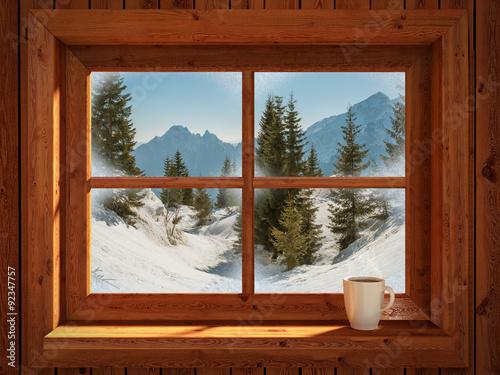 Photo Stands Magenta Winter landscape