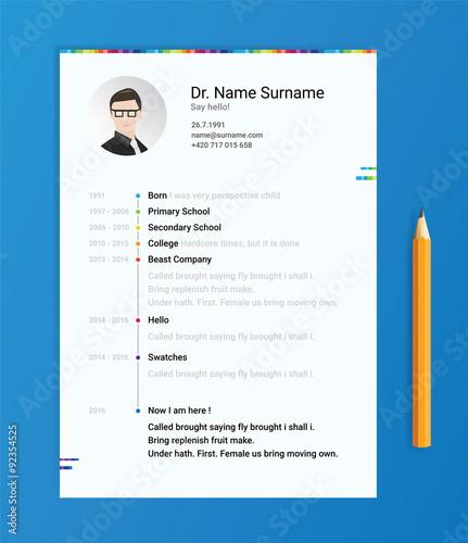 vector dark cv resume curriculum viate template modern and