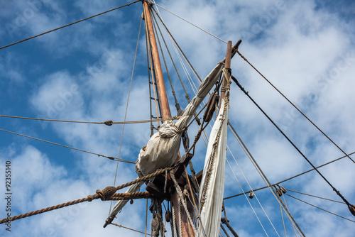Keuken foto achterwand Schip Old vessel sail ship detail