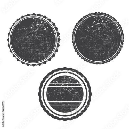 Obraz grunge stamp black templeta vector with textures - fototapety do salonu