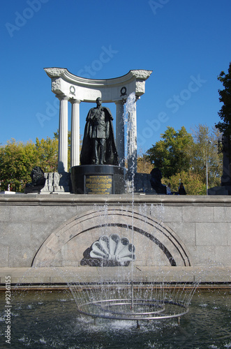 Foto op Canvas Monument MOSCOW, RUSSIA - September 21, 2015: The Monument to Emperor Ale