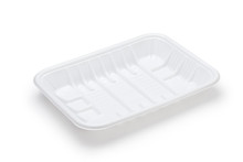 Empty Plastic Tray Isolated On...