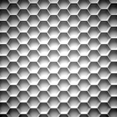 FototapetaBlack and white honeycomb. Abstract background. 3D illustration isolated on white background