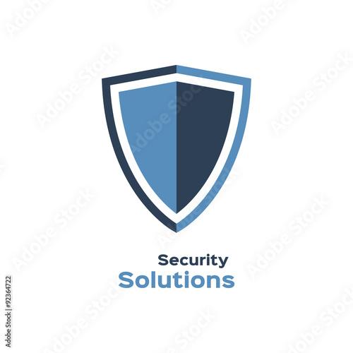 Fotografie, Obraz  Security solutions logo, shield silhouette