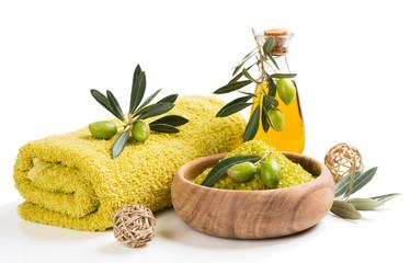 Spa olive setting