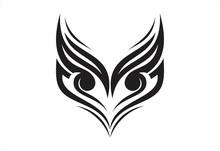 Owl Head Tribal Logo Vector