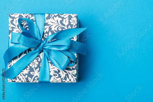 Fotografía  Blue gift box