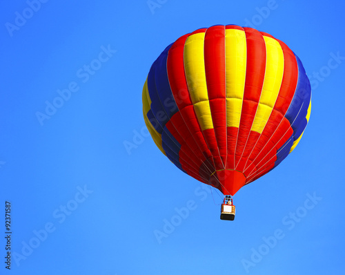 In de dag Ballon coloful hot air balloon