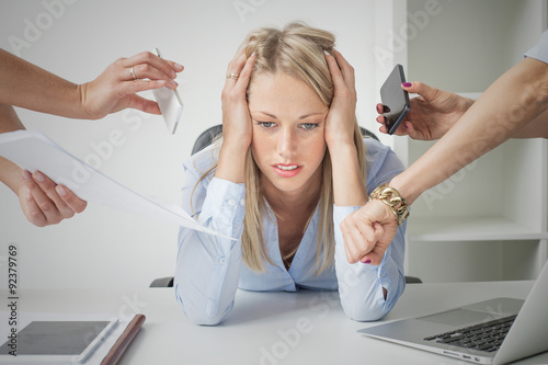 Valokuva  Depressed business woman