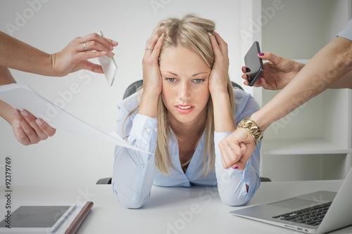 Fotografía  Mujer de negocios deprimido